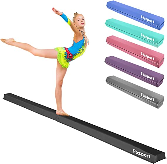 Swanluck 7ft//8ft//9ft Balance Beam for Kids Gymnastics Practice Floor Gym Equipment for Teens Hone Skills at Home Folding Floor Gymnastics Equipment for Kids Adults,Non Slip