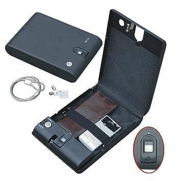 Caja de seguridad portátil con bloqueo por huella biométrica, para joyas, armas, etc: Amazon.es: Bricolaje y herramientas