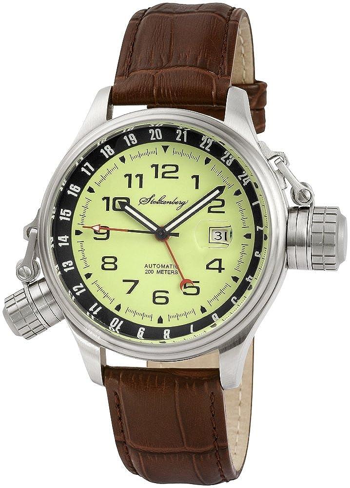 Stolzenberg ST2600290002 - Reloj analógico automático para Hombre, Correa de Cuero Color marrón