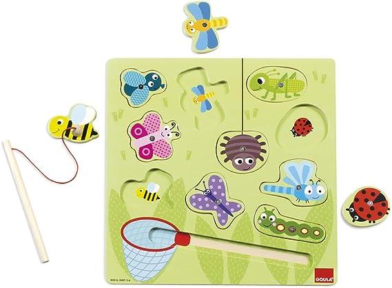 Goula- Puzzle magnético Madera 28x28 cm, Multicolor, 28 x 28 cm (53134) , color/modelo surtido: Amazon.es: Juguetes y juegos