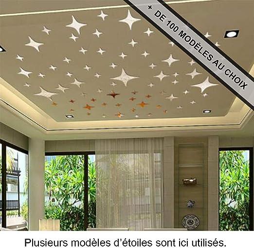 ANTEVIA/® Adh/ésif effet miroir Stickers muraux Autocollants D/écoratifs Soleil