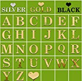 1 Set of 26 Letters and 1 Love Creative Uppercase Alphabet stickers Mirror Wall Stickers (Gold)