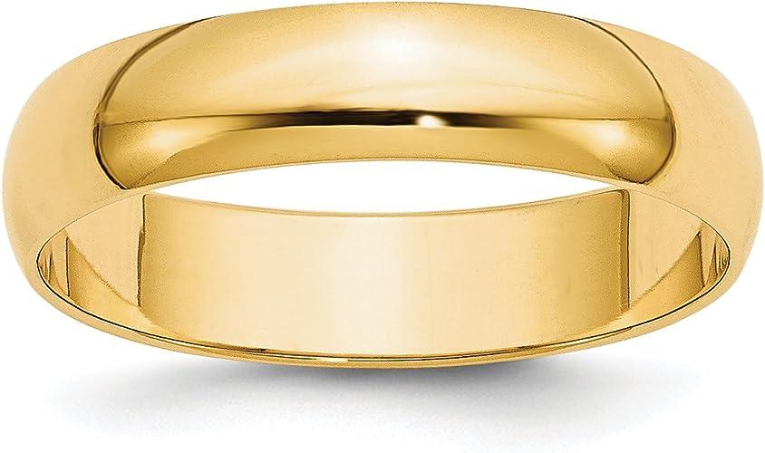 Best Designer Jewelry 14KY 5mm LTW Flat Band Size 11.5