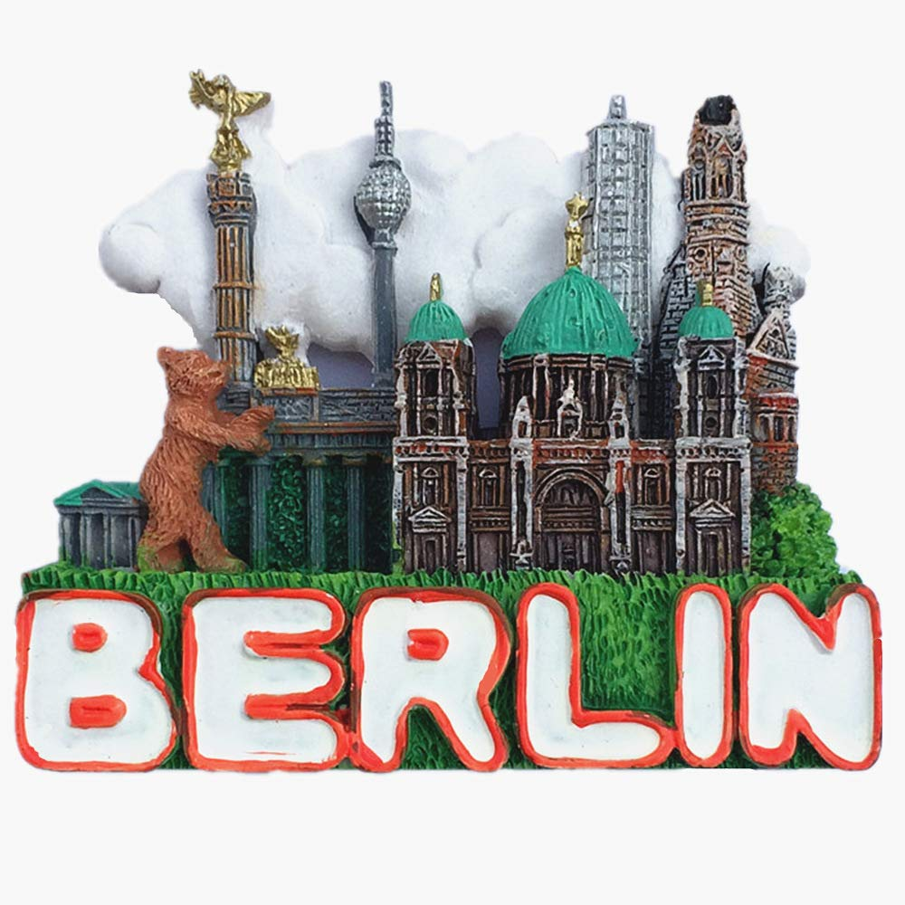 Berlin Germany 3D Refrigerator Magnet, Home Kitchen 3D polyresin Berlin Germany Fridge Magnet Souvenir Gift Jian Ai