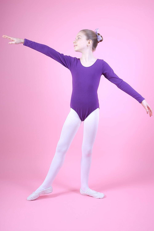 13-14 Anni 152//158 tanzmuster Body da Danza Classica Lilly per Bambini in Celeste