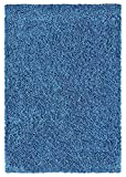 Ottomanson Cozy Color Solid Shag Contemporary Living and Bedroom Soft Shaggy Area Kids Rugs, 7'10'' X9'10'', Navy