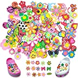 Wolpark 100pcs Different Shoe Decoration Charms for crocs & Bracelet Wristband for Kids girls Gifts