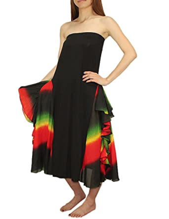 Belly Dance 2 In 1 Womens Exotic Dress Skirt One Size Multicolor