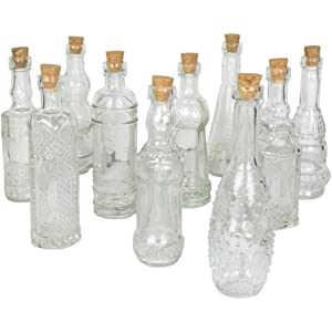 3d9f8096e76f Vintage Glass Bottles with Corks