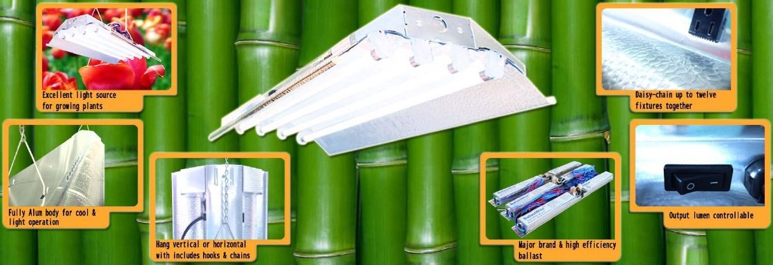 T5 Grow Light (2ft 4lamps) DL824 Ho Fluorescent Hydroponic Bloom Veg Daisy Chain with Bulbs by DuroLux (Image #4)