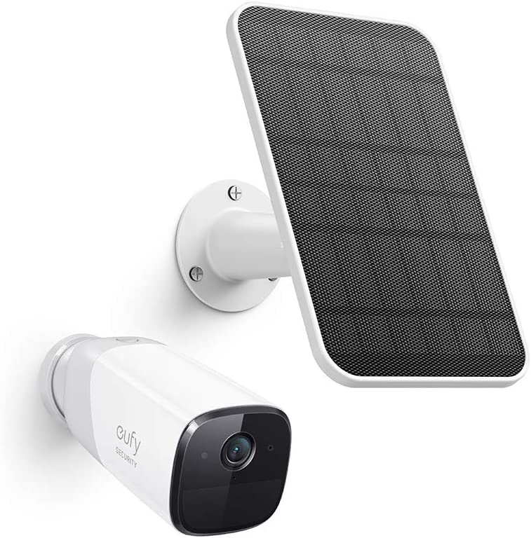 eufy Security eufyCam 2 Pro Wireless Home Security Add-on Camera & Certified eufyCam Solar Panel Bundle, 2K Resolution, No Monthly Fee, Continuous Power Supply, 2.6W Solar Panel