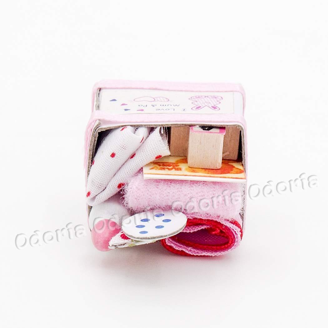 Amazon.com: Odoria 1: 12 Miniatura Cesta juguetes caja de ...