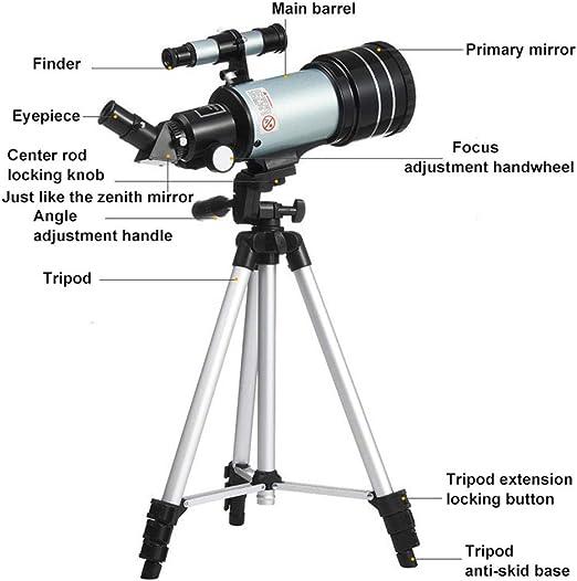 GKD Telescopio Astronómico De Zoom Profesional con El Trípode Al ...