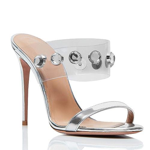 en venta f4cd1 77462 Sky-Pegasus sandals Sandalias de tacón Alto Transparente de ...