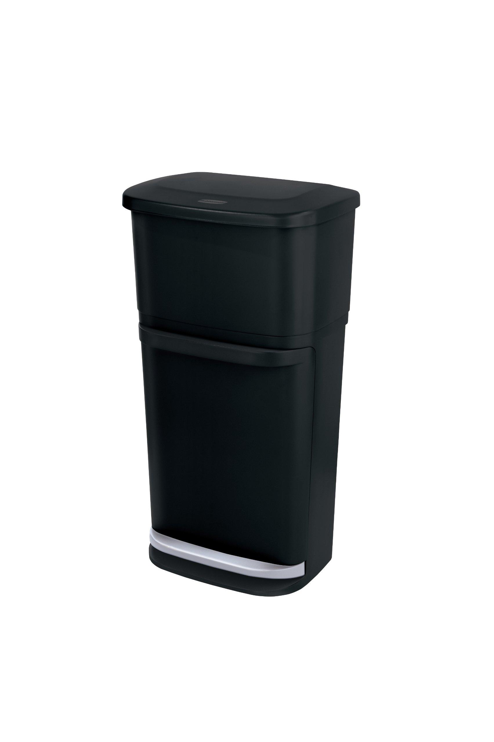 Rubbermaid 1819956 2-in-1 Recycler, Black by Rubbermaid
