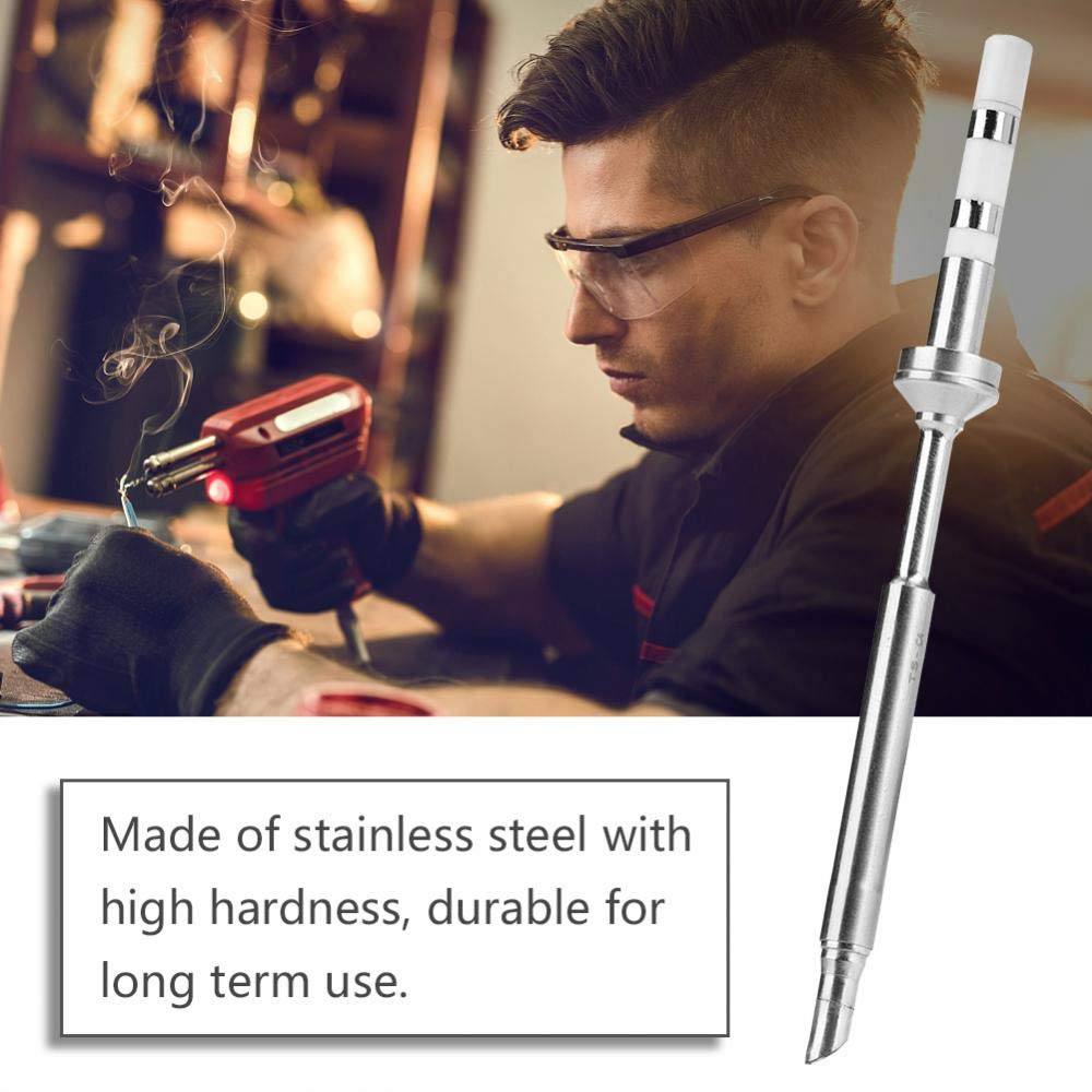 TS-KU Akozon Punta per saldatore punte in acciaio inossidabile mini di ricambio per saldatori TS100 kit stazione di saldatura elettrica portatile mini intelligente tascabile