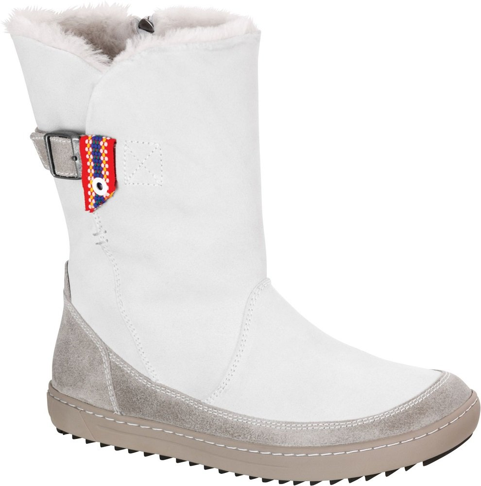 Birkenstock Women's Woodbury Shearling Lined Boot B01N4MCFPX 41 M EU|Off White Suede