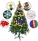 Image of Outgeek 5.9 Ft Tree Artificial Recyclable Tree with Decorations Gift