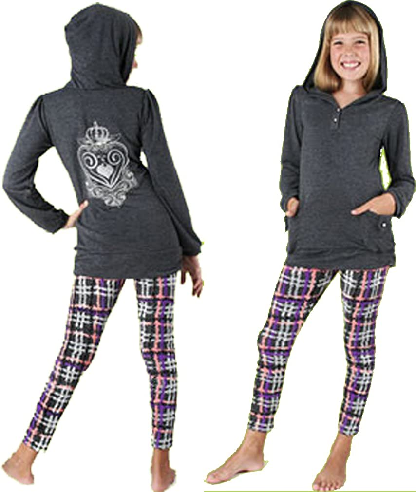 Haven Girl Koko Charcoal Grey Pullover w//Pearl Embroidery 4-7//8 Girls