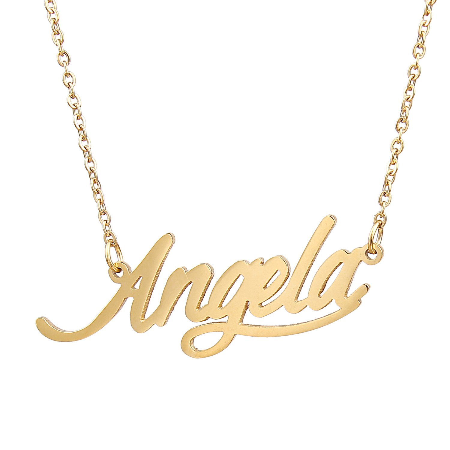 tail gold with script walmart heart name birthstone personalized ip com plated cursive necklace