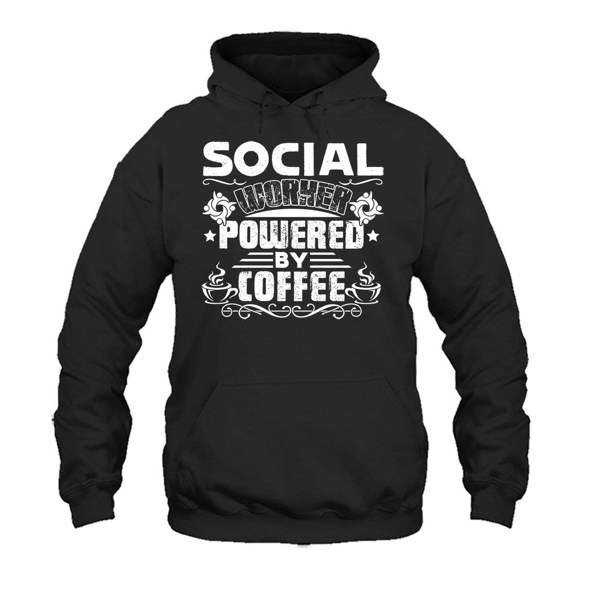 Two Camel Social Worker Powered by Coffee Tee Shirt Design Long Sleeve Shirt