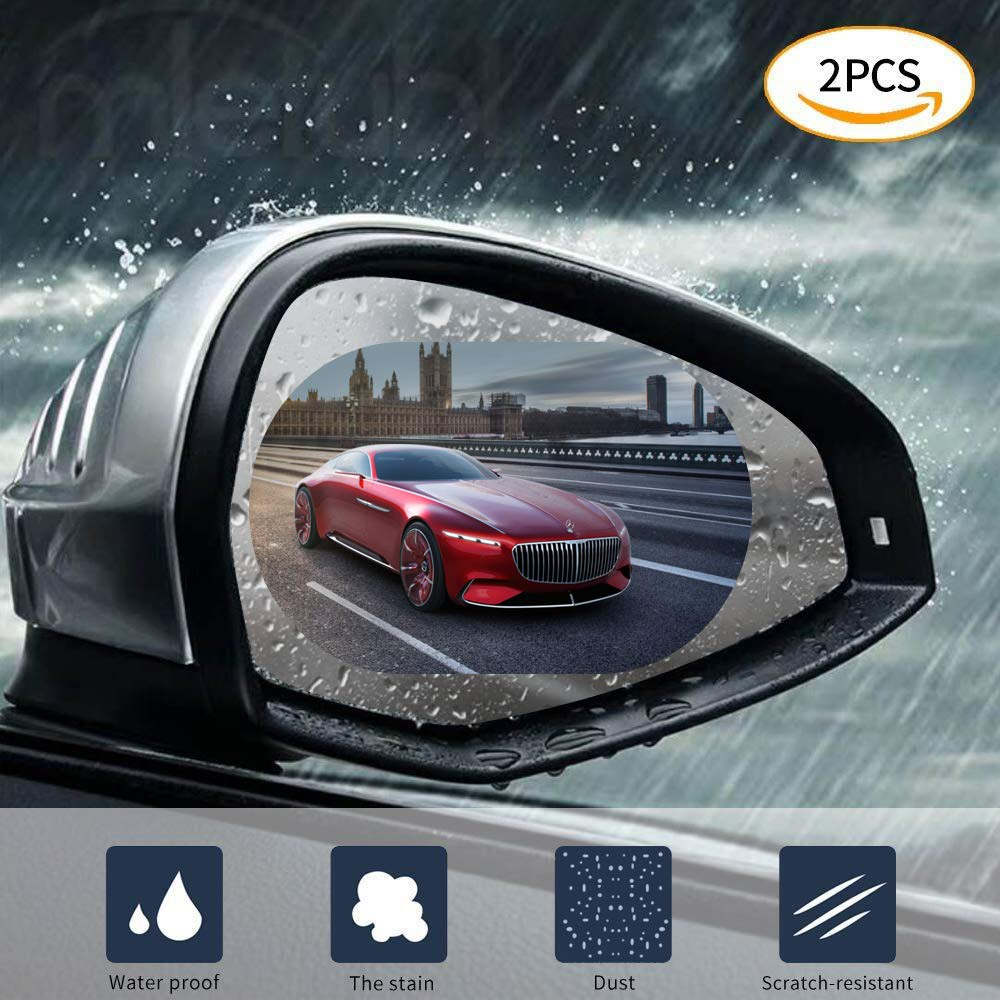 CATIZON Waterproof Film for Car Rearview Mirror Side Window Anti-fog Anti-glare Anti-scratch Clear Protective Film - Pack of 2PCS (5.9 x 4.0inch)