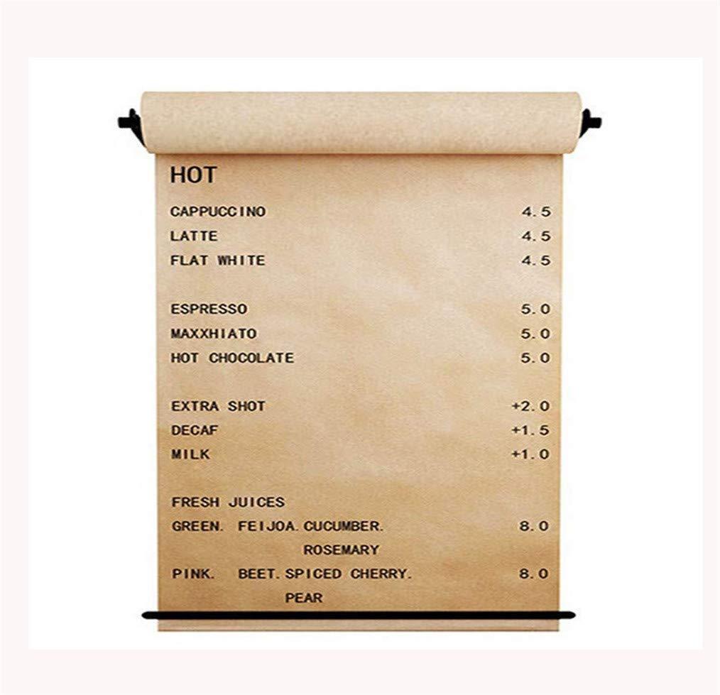 ディスペンサー付きオフィスクラフトペーパーロールホルダースタジオの会議の記録、オフィスのコンセプト、メモ、落書き黒板、メモカレンダー、ポスター、リスト、子供の落書きとして使用できます。,127cm 127cm  B07RTQNDZR