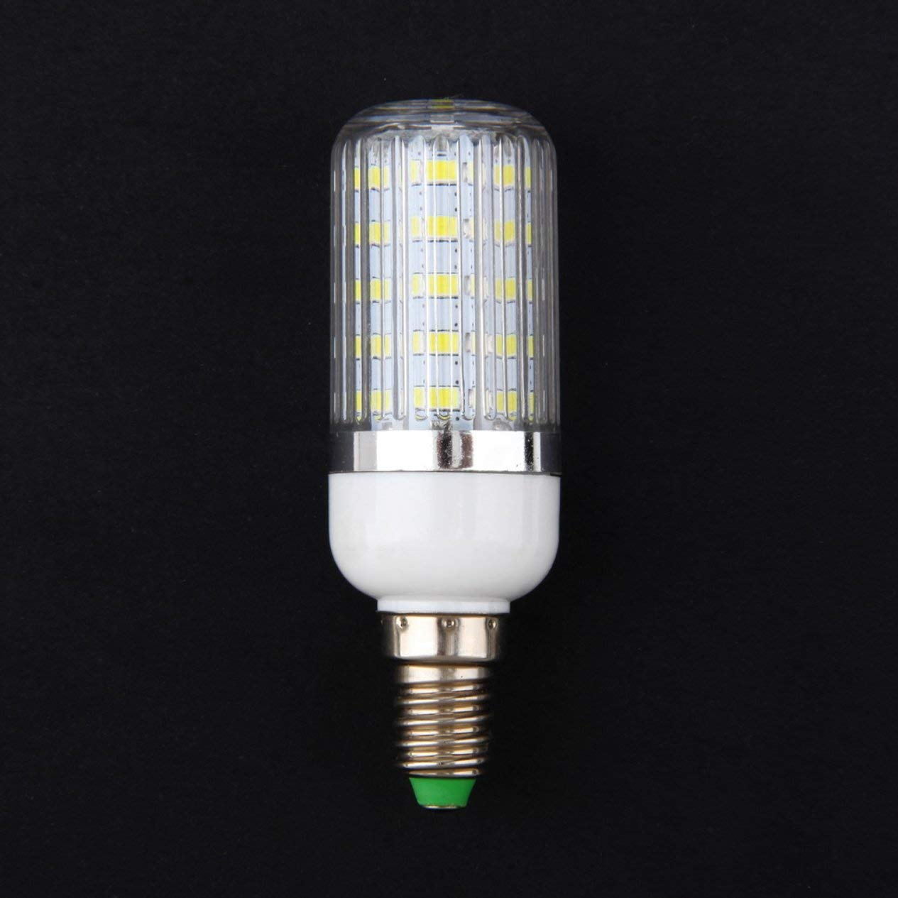 LED Light Bulb,E14 7W 36 SMD 5730 Silver Side Light LED Corn Bulb Pure//Warm White 110V//240V