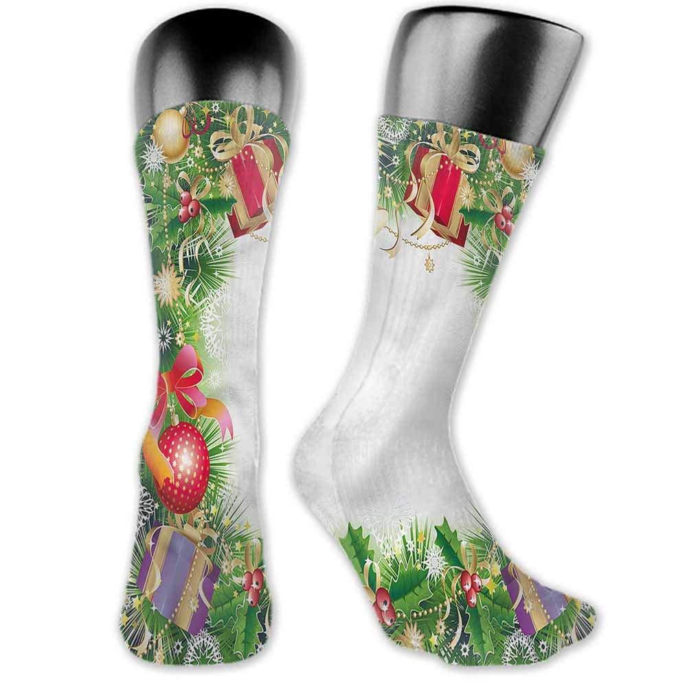 Socks Creative Christmas,Pine Red Bows,socks women low cut
