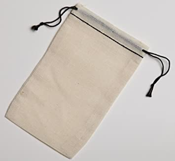 3447765667bd Cotton Muslin Bags 3x5 Inch Black Hem and Black Double Drawstring 25 Count  Pack
