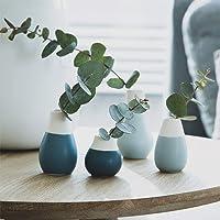 Räder - Juego de 4 jarrones pastel, color azul