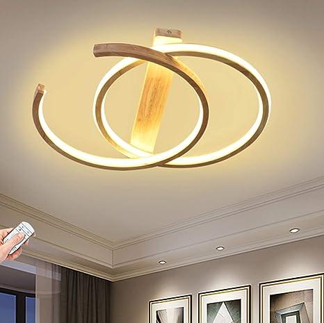 Led Deckenleuchte Holz Dimmbar Runde Wohnzimmer Deckenlampe Modern Deko Schlafzimmer Lampe Ultradunne Ring Decke Esszimmer Flur Leuchte Arbeitszimmer Kuche Deckenlicht Mit Fernbedienung 48w O55cm Amazon De Beleuchtung