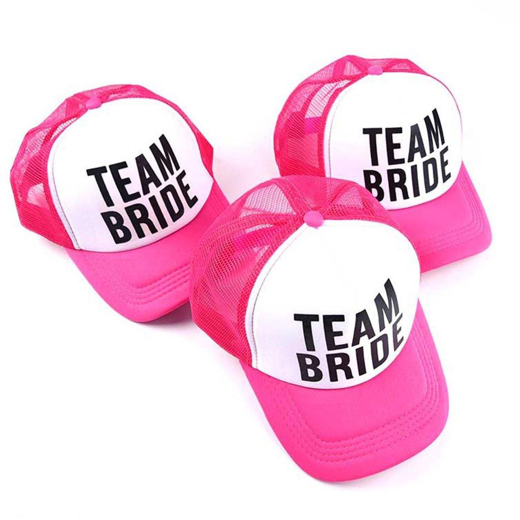 JOYKK Bride Baseball Hat Bridal Wedding Party Trucker Cap Pink