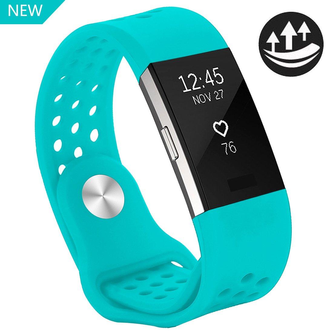 Yometome Fitbit Charge 2 Armband Original, Weiche Silikon Uhrenarmband für Sport und Ersatz Klassisch Armband für Fitbit Charge 2