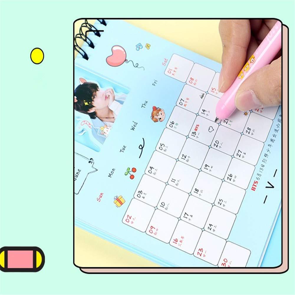Calendario de mesa BTS 2019 KPOP Bangtan Joven Jungkook ...