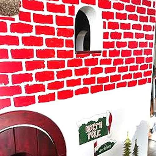 Yanqiao 27pcs Hot DIY Brick Vinyl Wall Decor Removable Vintage Children Wall Sticks