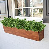 GTidea 4pcs Artificial Boxwood Bushes Fake Shrubs Plastic Greenery Plants House Office Garden Patio Yard Indoor Outdoor Decor