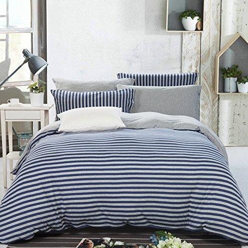 PURE ERA Jersey Knit Cotton Home Bedding Duvet Cover Sets St