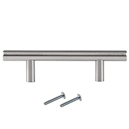 satin nickel kitchen cabinet pulls 3 inch bar 10 pack of kitchen