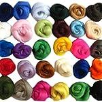 SOLEDI Set of 36 Colors Wool Fibre Wo...