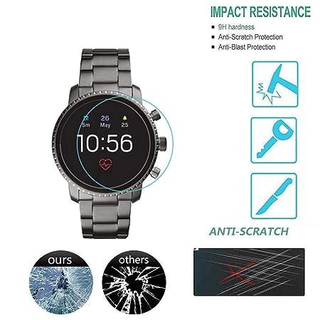 Smartwatch,TwoCC Protector de Pantalla de Vidrio Transparente 1Pc ...