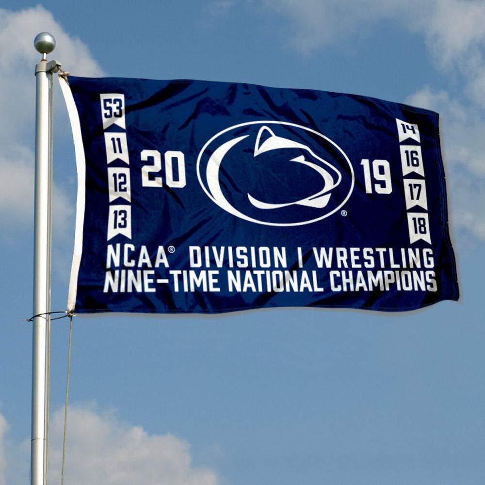 PSU Nittany Lions Four-Peat Wrestling National Champions Pennant Banner Fan Apparel & Souvenirs Sports Mem, Cards & Fan Shop