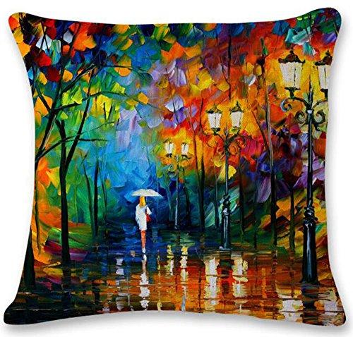 Painting streetlight Umbrella Cushion Decorative