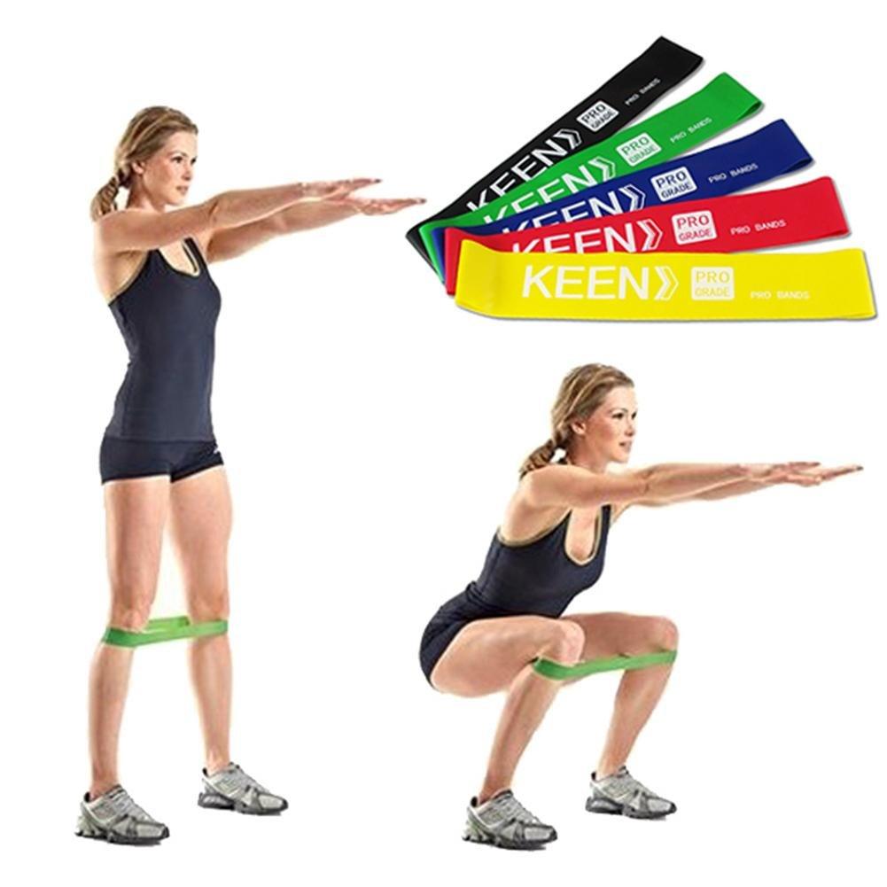 ... Elastique Fitness Bande De Resistance Set Équipement D Exercices  Musculation Pilates Agrandir l image 8894ce34c24