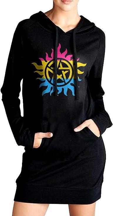 Sportswear with Kanga Pocket NVWEIYIJW Autism Awareness Womens Pullover Sweatshirt Long Hoodie Dress