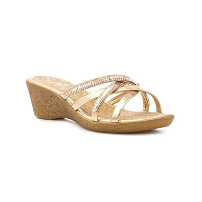 d7207066896 Lilley Womens Rose Gold Strappy Wedge Sandal  Amazon.co.uk  Shoes   Bags
