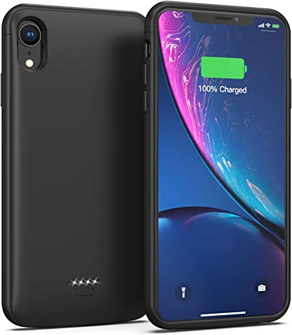 Amazon.com: Funda de batería para iPhone XR, 5000 mAh, funda ...
