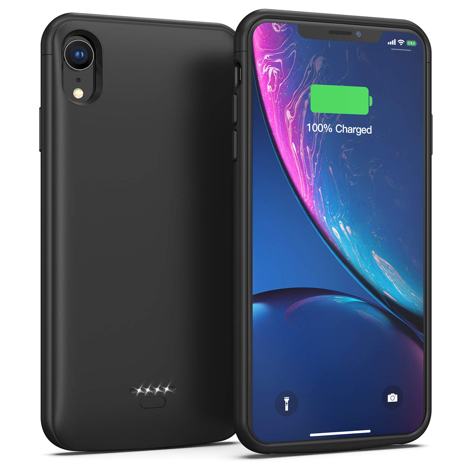Battery Case for iPhone XR, 5000mAh Charging Case Protective Charger Case for iPhone XR (Black) by Lonlif (Image #1)