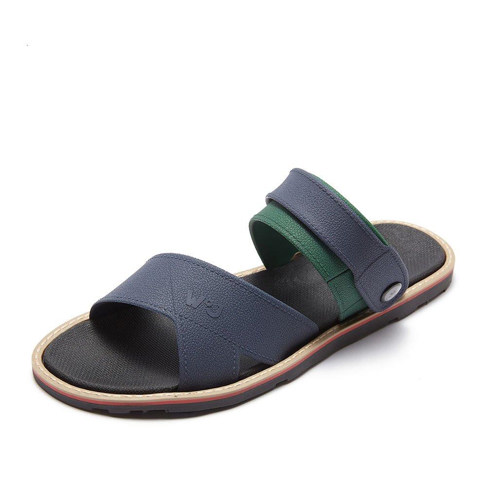 Sandalia al aire libre de la correa del tobillo sandalias de la correa Zapatillas de la playa del hombre deslizador del verano del hombre multicolor (tamaño 38-45) (Color : Azul, Tamaño : 40) 40|Azul