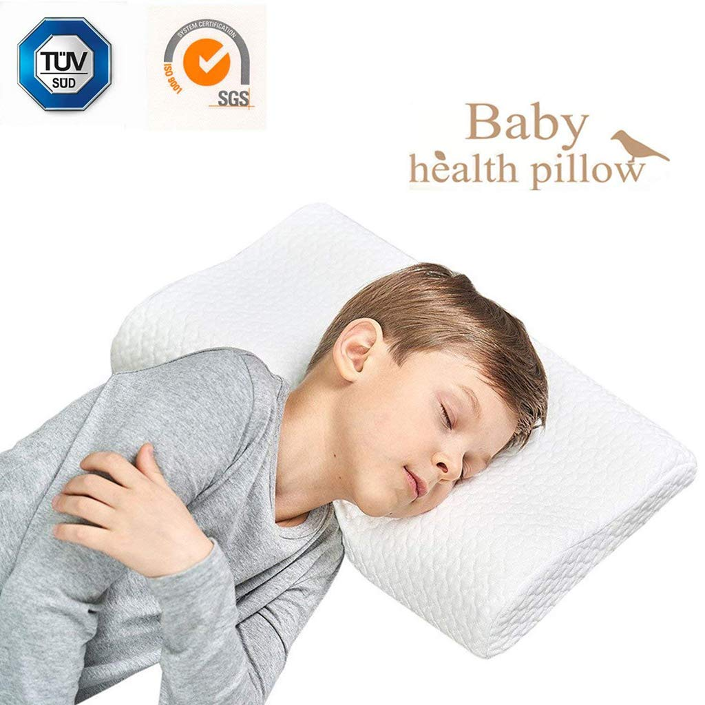 Kids Pillow Memory Foam Toddler Pillow Breathable Kids Contour Pillows for Sleeping with Pillowcase by QX